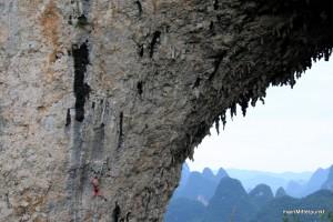 Wer sieht den Kletterer?