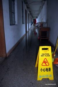 Überschwemmung im Wohnheim
